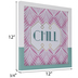 Chill Palm Leaves Wall Frame - 10 3/8