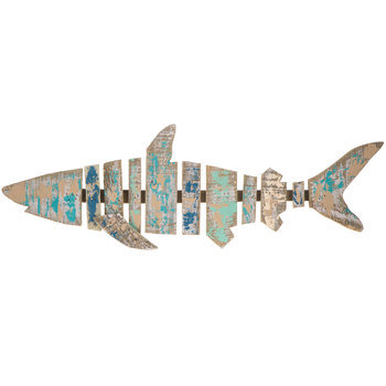 Shark Wood Plank Wall Decor