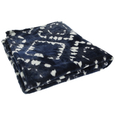 Navy & White Geometric Throw Blanket