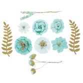 Paper Flower & Pick Embellishments