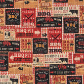 Barbecue Patch Cotton Calico Fabric