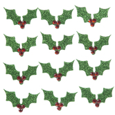 Glitter Holly 3D Stickers