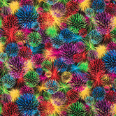 Fireworks Cotton Calico Fabric