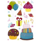 Birthday Celebration 3D Stickers