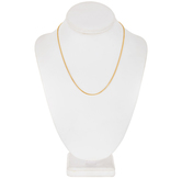 10K Gold Plated Curb Chain Necklace - 18""