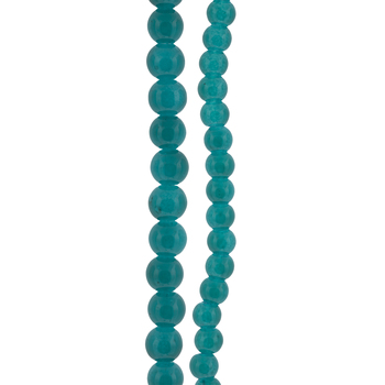 Coated Round Glass Bead Strands
