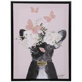 Butterfly French Bulldog Canvas Wall Decor