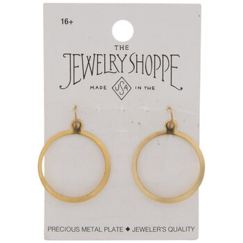 10K Gold Plated Flat Hoop Charms