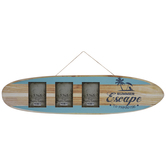 Surf Board Collage Wall Frame
