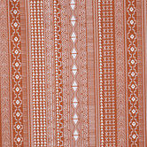 Boho Rust Striped Apparel Fabric