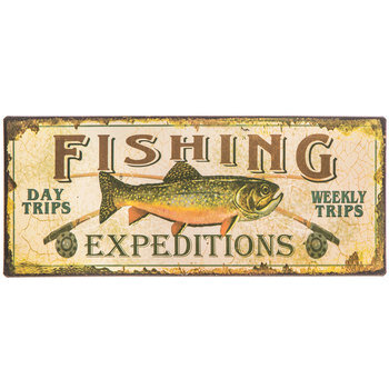 Fishing Expeditions Metal Sign