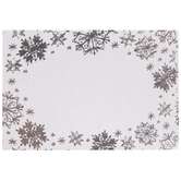 Silver Snowflake Border Gift Tag Stickers