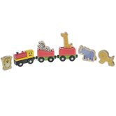 Train & Jungle Animals Wood Toys