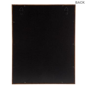 """Distressed Walnut Wood Shadow Box - 11"""" x 14"""""""