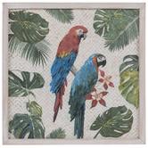 Parrots & Leaves Woven Wall Decor