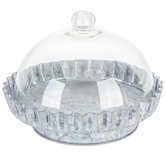 Galvanized Metal Domed Cake Stand