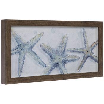 Starfish Trio Framed Wood Wall Decor
