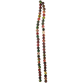 Multi-Color Dyed Round Jade Bead Strand - 6mm