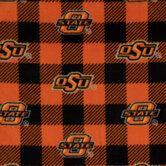 Oklahoma State Buffalo Check Collegiate Fleece Fabric