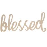 Blessed Script Wood Decor