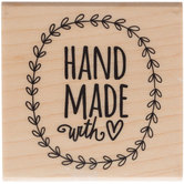 Handmade With Love Rubber Stamp