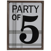 Party Of 5 Wood Decor