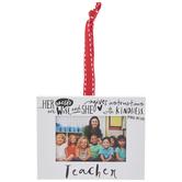 Teacher Frame Ornament
