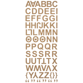 Cork Alphabet 3D Stickers
