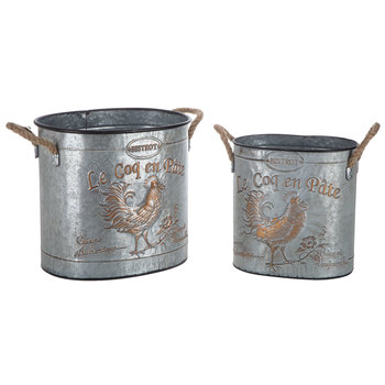 Rooster Metal Container Set