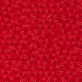 Red Stars Cotton Calico Fabric
