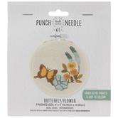 Butterfly & Flower Punch Needle Kit