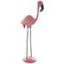Standing Pink Metal Flamingo