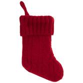 Red Knit Mini Stocking