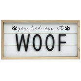Woof Wood Wall Decor