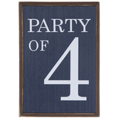 Party Of 4 Wood Decor