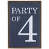 Blue Party Of 4 Wood Decor