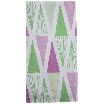 Green & Purple Triangle Napkin