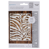 Zebra Print Card Mat Die
