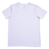 White Adult Crew Neck T-Shirt for Sublimation