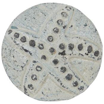 Distressed Blue Starfish Metal Knob