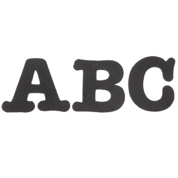 Black Alphabet Foam Stickers