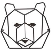 Rust Geometric Bear Head Metal Wall Decor