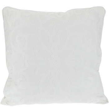 White Swirl Textured Pillow