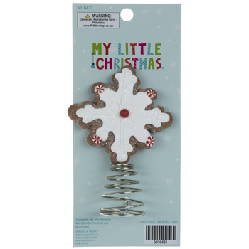 Gingerbread Snowflake Mini Tree Topper