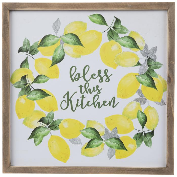 Bless This Kitchen Lemon Wreath Wood Wall Decor Hobby Lobby 5260955