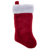 Red & White Plush Stocking