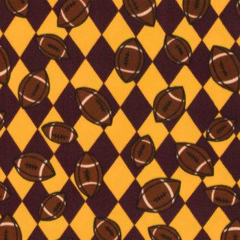 Footballs Fleece Fabric