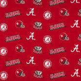 Alabama Allover Collegiate Cotton Fabric