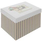 Striped Sewing Storage Box