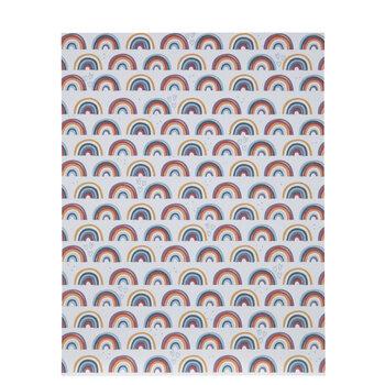 "Rainbows On Cream Scrapbook Paper - 8 1/2"" x 11"""